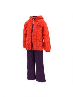 Детский флисовый комплект KERTI HUPPA. Цвет: красный