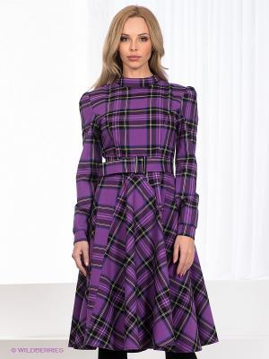 Платье Ksenia Knyazeva. Цвет: фиолетовый, желтый, черный