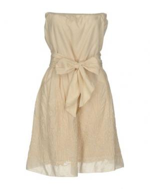 Короткое платье JEI O'. Цвет: бежевый