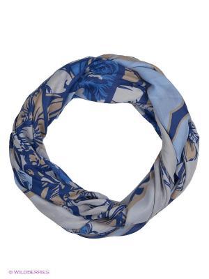 Платок Labbra. Цвет: голубой, бежевый, темно-синий