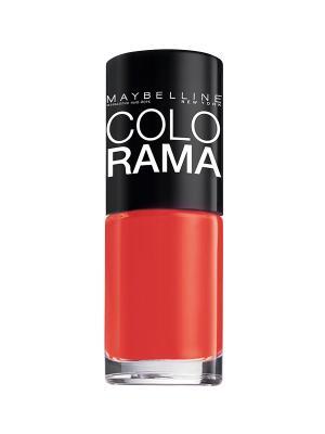 Лак для ногтей Colorama, оттенок 352, Закат в Марокко, 7 мл Maybelline New York. Цвет: красный
