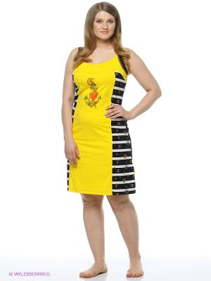 Сарафан Mojo Collection. Цвет: черный, желтый