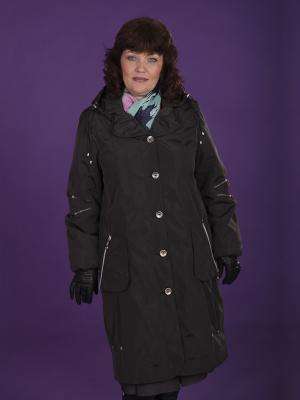 Пальто Одри VIKO. Цвет: черный