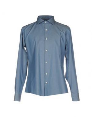 Pубашка DANIELE ALESSANDRINI. Цвет: лазурный