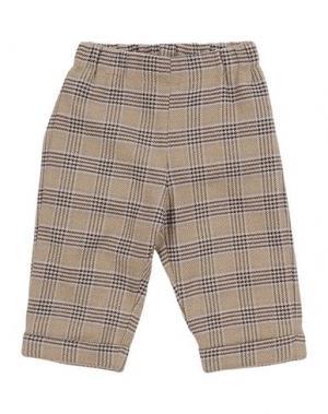 Повседневные брюки LA STUPENDERIA. Цвет: хаки