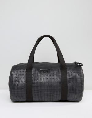 Systvm Черная полиуретановая сумка дафл. Цвет: черный