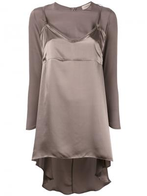 Блузка Slip Murmur. Цвет: серый