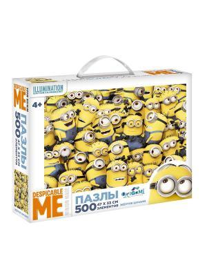 Minions. Пазл 500 элементов Жёлтое цунами в чемоданчике. Minions. Цвет: желтый, белый, синий