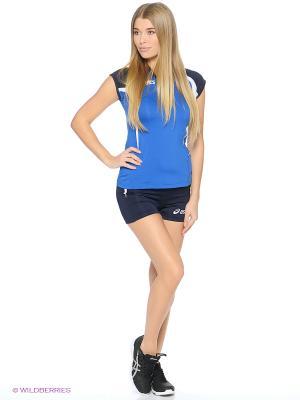 Комплект (майка + шорты) SET AREA LADY ASICS. Цвет: голубой, синий