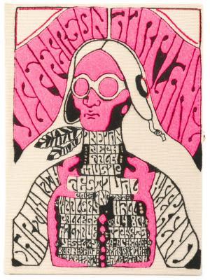 Клатч Jefferson Airplane Olympia Le-Tan. Цвет: розовый и фиолетовый