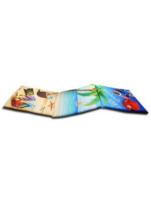 Сидушка лежак Gift'n'Home. Цвет: голубой, зеленый