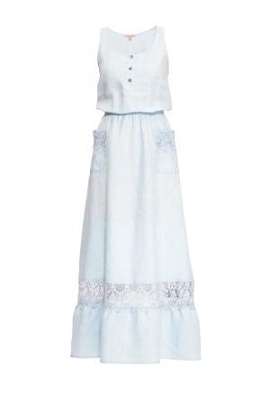 Платье из льна 163234 Anna Verdi. Цвет: синий