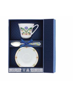 Набор чайный Сад - Замоскворечье 3 предмета + футляр АргентА. Цвет: серебристый