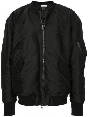 Куртка-бомбер Facetasm. Цвет: чёрный