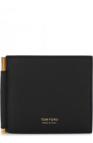 Кожаный зажим для купюр с отделениями кредитных карт Tom Ford. Цвет: черный