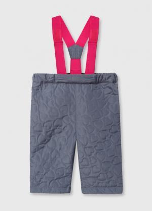 Утеплённые брюки для девочек OSTIN. Цвет: светло-серый