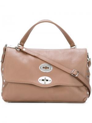 Маленькая сумка Postina Zanellato. Цвет: телесный