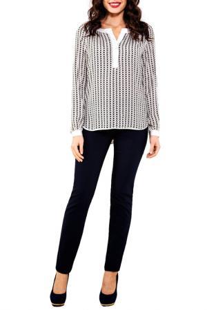 Блузка E.LEVY. Цвет: черно-белый