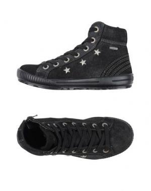 Высокие кеды и кроссовки SUPERFIT. Цвет: черный