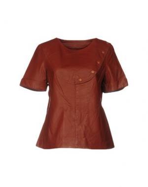 Блузка RAOUL. Цвет: коричневый