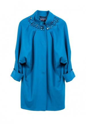 Пальто Heresis. Цвет: бирюзовый