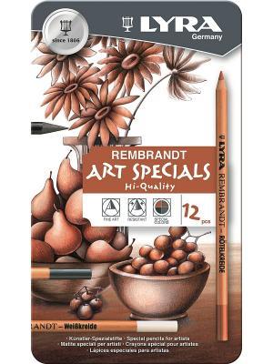 REMBRANDT ART SPECIALS Карандаши художественные 12 цв в метал коробке Lyra. Цвет: коричневый, белый, черный