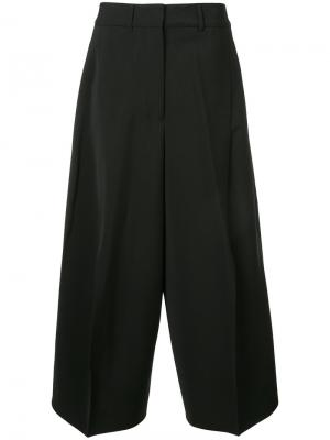Укороченные брюки-палаццо Jil Sander. Цвет: чёрный