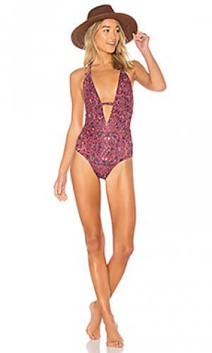 Слитный купальник emme TAVIK Swimwear. Цвет: красный