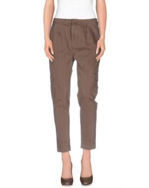 Повседневные брюки E_GO' SONIA DE NISCO. Цвет: светло-коричневый