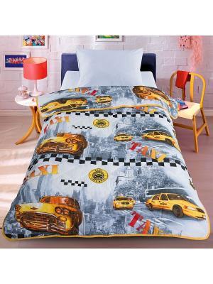 Покрывало-одеяло Letto SP32-140, 140*200см. Облегченное, стеганое. 100% хлопок. Цвет: желтый
