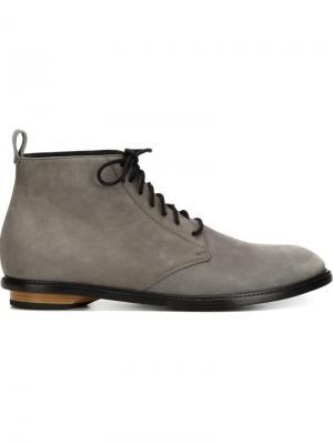 Ботинки на шнуровке Valas. Цвет: серый