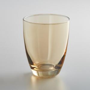 Комплект из 4 стаканов стекла, KOUTINE La Redoute Interieurs. Цвет: дымчато-серый,янтарь