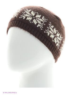 Шапка со снежинкой Непростые вещи. Цвет: коричневый, молочный, белый