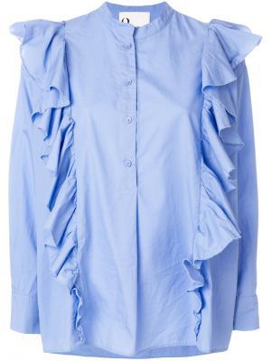 Рубашка Demi 8pm. Цвет: синий