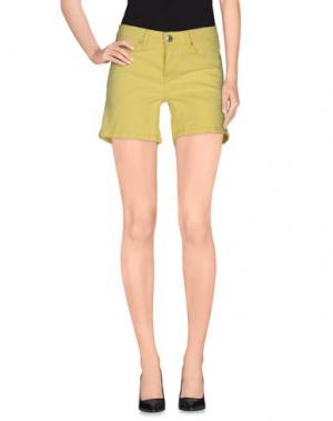 Джинсовые шорты SILVIAN HEACH. Цвет: желтый
