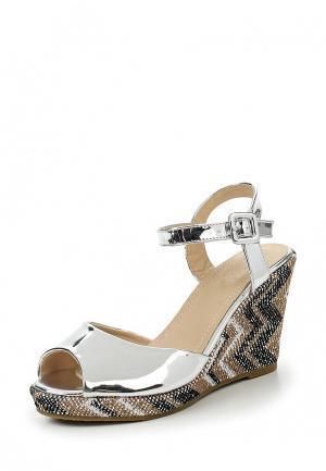 Босоножки WS Shoes. Цвет: серебряный