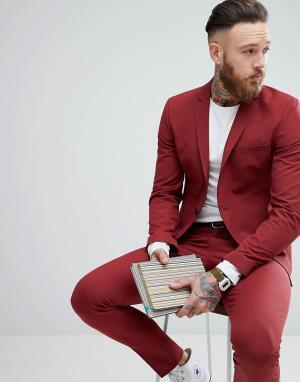 Selected Homme Супероблегающий пиджак. Цвет: красный