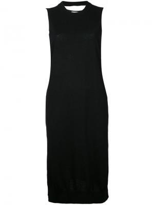 Трикотажное платье с круглым вырезом Astraet. Цвет: чёрный