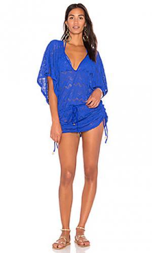 Платье cabana Luli Fama. Цвет: синий