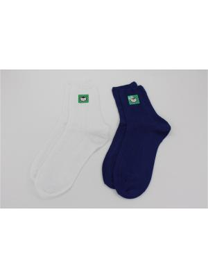 Носки, 2 пары Гамма. Цвет: синий, белый