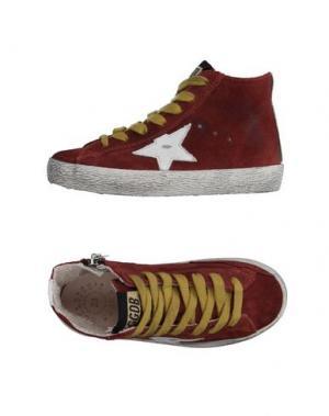Высокие кеды и кроссовки GOLDEN GOOSE DELUXE BRAND. Цвет: красно-коричневый
