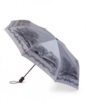 Зонт автомат Старый мост Henry Backer. Цвет: серый