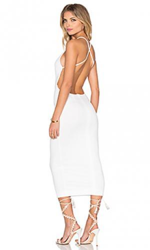 Платье миди kahlo Maurie & Eve. Цвет: белый