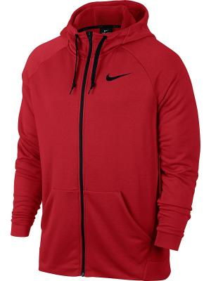 Толстовка M NK DRY HOODIE FZ FLEECE Nike. Цвет: красный