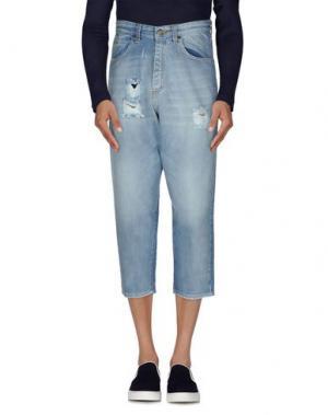 Джинсовые брюки-капри 26.7 TWENTYSIXSEVEN. Цвет: синий