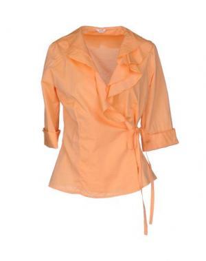 Pубашка BARBA Napoli. Цвет: лососево-розовый