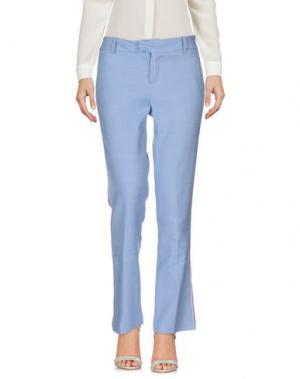 Повседневные брюки GIULIETTE BROWN. Цвет: лазурный