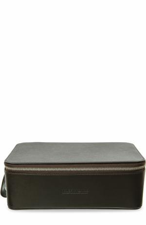 Кожаный несессер на молнии Truefitt&Hill. Цвет: темно-коричневый