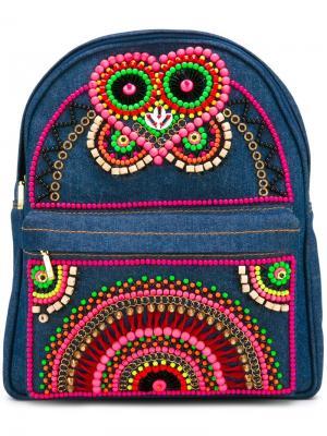 Декорированный мини-рюкзак Manish Arora. Цвет: синий