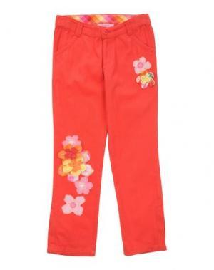 Повседневные брюки BEETLEJUICE. Цвет: красный